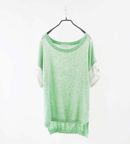 LUCA enough silhouette linen top