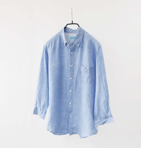 next blue linen shirt