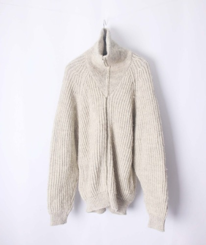 wooley back zip-up sweater(Egland made)
