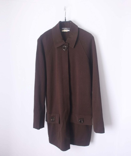 Salvatore Ferragamo wool knit coat(Italy made)