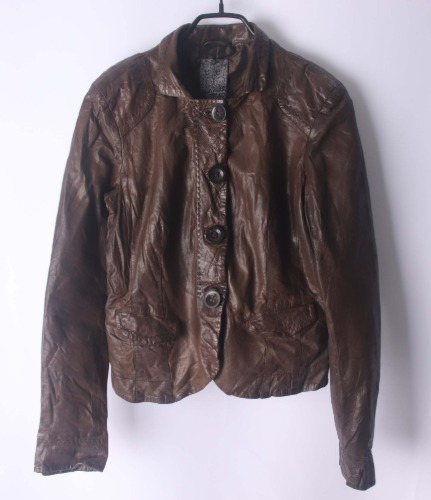 brogden leather jacket(Italy made)
