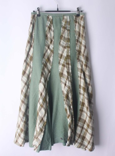 green eye linen long skirt