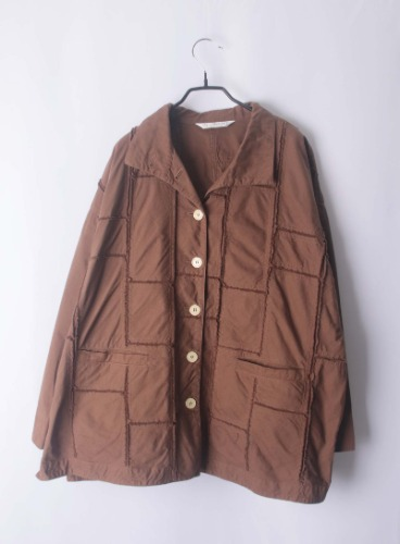 YAOCO MARICARD patch work overfit jacket