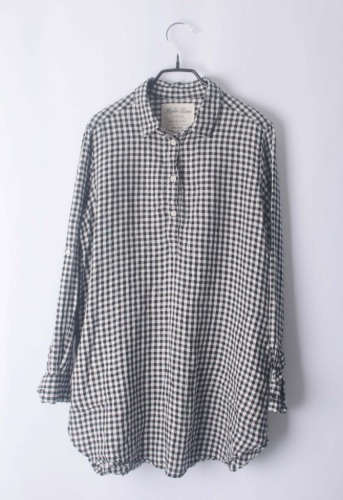 mizuiro linen long blouse