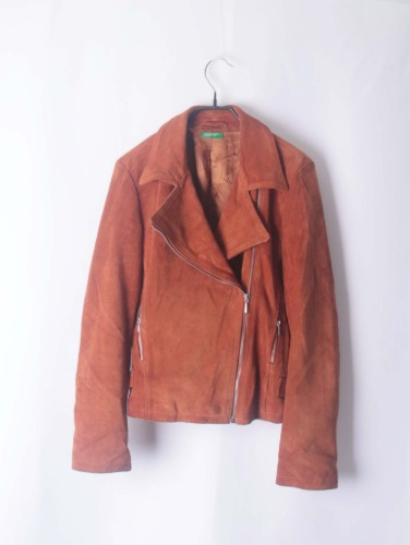 BENETTON leather rider jacket