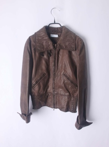 strenesse leather jacket(Italy made)