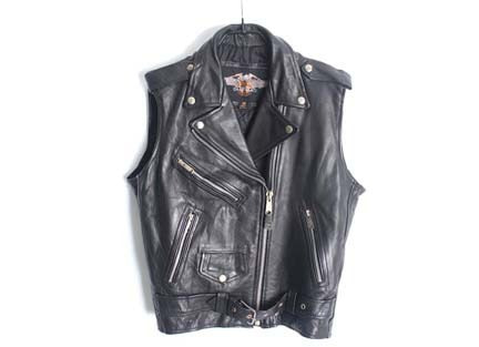 ash gee leather vest