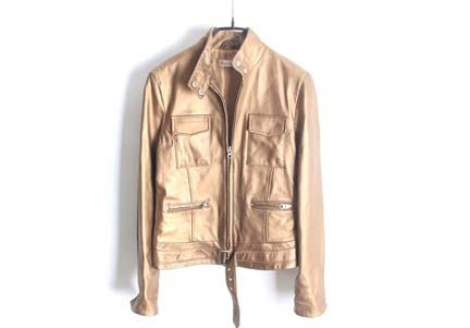 integration lambs leather jacket