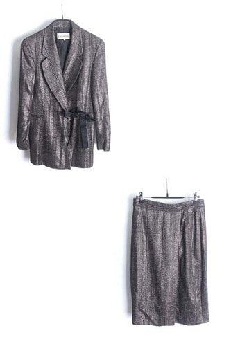 GIANFRANCO FERRE silver suit(Italy made)