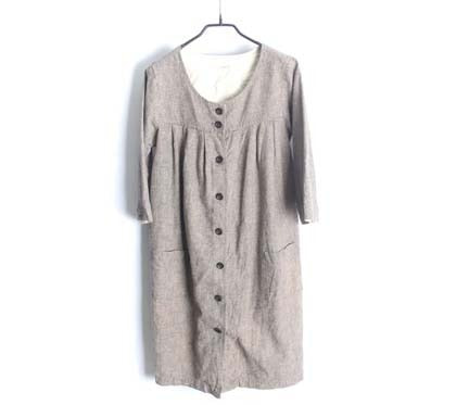 typy natural style linen coat