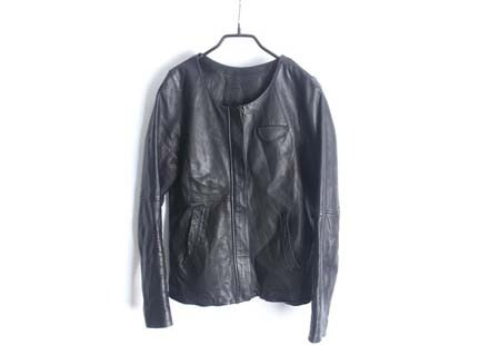 cuff leather jacket